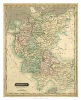 Thomson's Map of Germany Fine Art Print