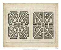 """Garden Parterre III by DeZallier D'Argenville - 22"""" x 18"""" - $27.99"""