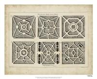 """Garden Parterre IV by DeZallier D'Argenville - 22"""" x 18"""" - $27.99"""