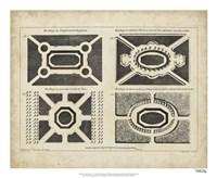 """Garden Parterre V by DeZallier D'Argenville - 22"""" x 18"""" - $27.99"""