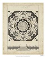 """Garden Parterre VIII by DeZallier D'Argenville - 18"""" x 22"""" - $27.99"""
