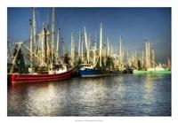 Shrimp Boats II Framed Print