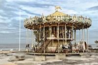 Arcachon Carousel Fine Art Print