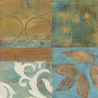 Bronze Leaf Quadrant II Framed Print