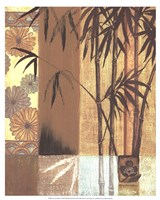 "Asian Bamboo by Wendy Russell - 17"" x 21"""