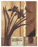 """Asian Iris by Wendy Russell - 17"""" x 21"""""""