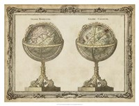 "Terrestrial & Celestial Globes by Vision Studio - 34"" x 26"""