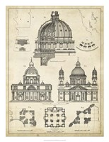 "Vintage Architect's Plan II by Vision Studio - 20"" x 26"""