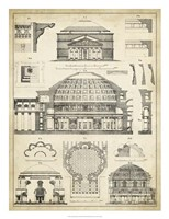 Vintage Architect's Plan III Fine Art Print