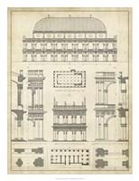 "Vintage Architect's Plan IV by Vision Studio - 20"" x 26"""