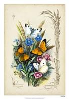 Victorian Butterfly Garden I Fine Art Print