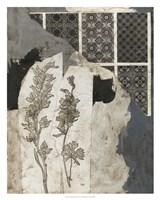 Non-Embellished Fragmented Collage I Framed Print