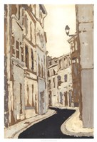Non-Embellished Streets of Paris II Framed Print