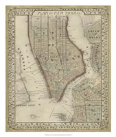 Plan of New York Fine Art Print