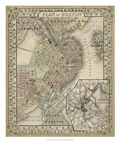 Plan of Boston Fine Art Print