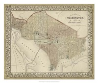 Plan of Washington, D.C. Fine Art Print