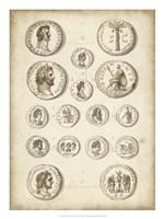 Antique Roman Coins IV Framed Print