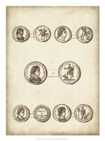 Antique Roman Coins V Framed Print