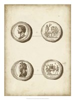 Antique Roman Coins VI Framed Print