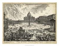 Veduta della Basilica di S.Pietro Fine Art Print