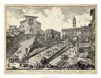 Veduta del Romano Campidoglio Fine Art Print