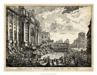 Veduta della Vasta Fontana di Trevi Fine Art Print
