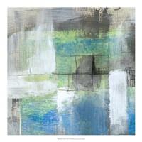 "White on Blue I by Jennifer Goldberger - 20"" x 20"" - $27.99"