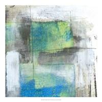 "White on Blue II by Jennifer Goldberger - 20"" x 20"" - $27.99"