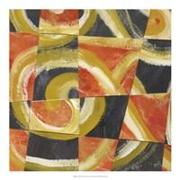 """Fire & Slate I by Lisa Choate - 20"""" x 20"""", FulcrumGallery.com brand"""
