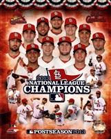 St. Louis Cardinals 2013 National League Champions Composite Fine Art Print