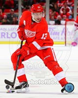 Pavel Datsyuk 2013-14 Action Fine Art Print