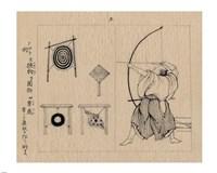 Japanese archer 1878b - various sizes - $22.49