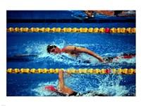 Chad Senior - Modern Pentathlon - swim Fine Art Print