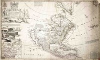 John Lord Sommers Map of North America Fine Art Print