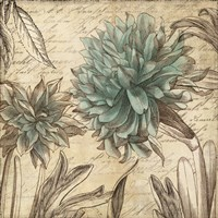Blue Botanical I Fine Art Print