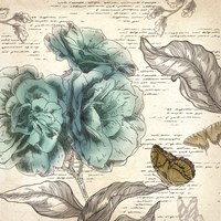"Blooming Teal II - Mini by Aimee Wilson - 13"" x 13"""