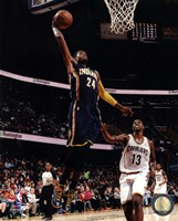 Paul George 2013-14 dunking the ball Fine Art Print