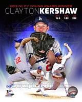 Clayton Kershaw 2013 National League Cy Young Winner Portrait Plus Fine Art Print