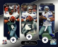 Roger Staubach, Troy Aikman, & Tony Romo Legacy Collection Fine Art Print