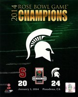 Michigan State Spartans 2014 Rose Bowl Champions Logo Fine Art Print