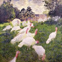 The Turkeys at the Chateau de Rottembourg, Montgeron, 1877 Fine Art Print