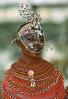Portrait of a teenage girl smiling, Kenya Fine Art Print