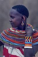 "Side profile of a Samburu tribal woman by Panoramic Images - 16"" x 24"", FulcrumGallery.com brand"