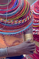 """Samburu tribal beadwork by Panoramic Images - 16"""" x 24"""", FulcrumGallery.com brand"""