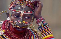 "Portrait of a Samburu maiden by Panoramic Images - 16"" x 10"", FulcrumGallery.com brand"