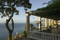 """Group of people sitting in a restaurant by the sea, Imperial Tramontano, Sorrento, Naples, Campania, Italy by Panoramic Images - 16"""" x 11"""""""
