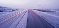 "Road running through a snow covered city, Reykjavik, Iceland by Panoramic Images - 16"" x 8"""