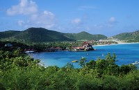 """Resort setting, Saint Barth, West Indies. by Panoramic Images - 16"""" x 10"""""""