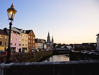St Finbarr's Cathedral, River Lee (South Channel), Cork City, County Cork, Ireland Fine Art Print