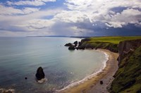 """Aerial View of Ballydowane Beach, Copper Coast, County Waterford, Ireland by Panoramic Images - 24"""" x 16"""", FulcrumGallery.com brand"""